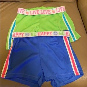 2 pair of girls Athletic cute shorts. Size L 10/12